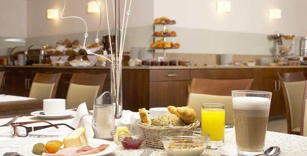 Lors du petit-déjeuner