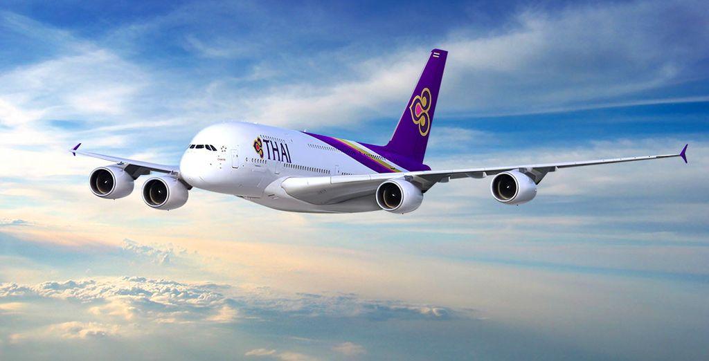 Pour rejoindre ce beau pays, envolez-vous avec la compagnie Thaï Airways