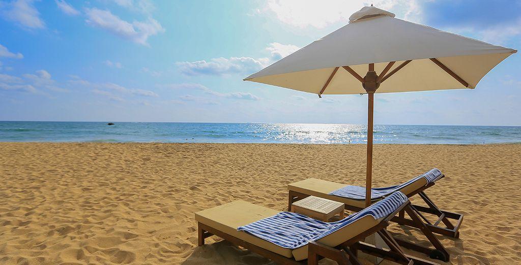 Sur les plages de Kalutara au Sri Lanka