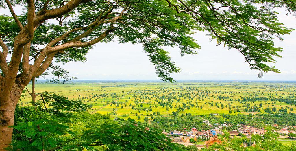 Ainsi que par les paysages de campagne authentiques à Battambang