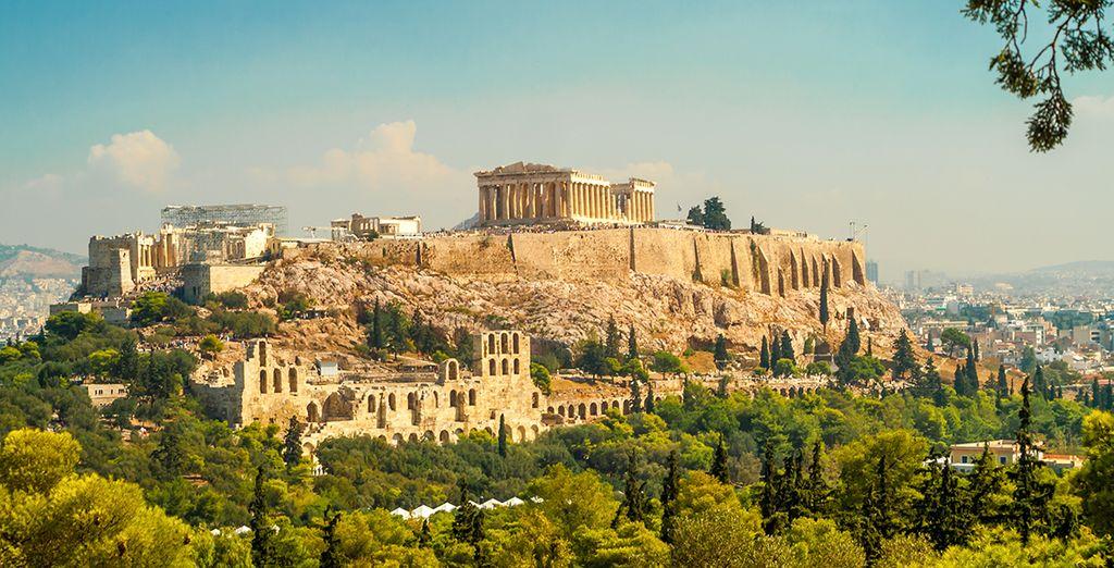 Commencez par la ville mythique d'Athènes...