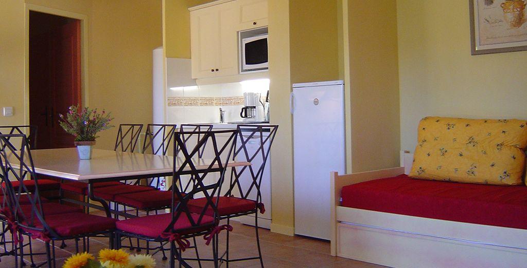 Aux appartements colorés...