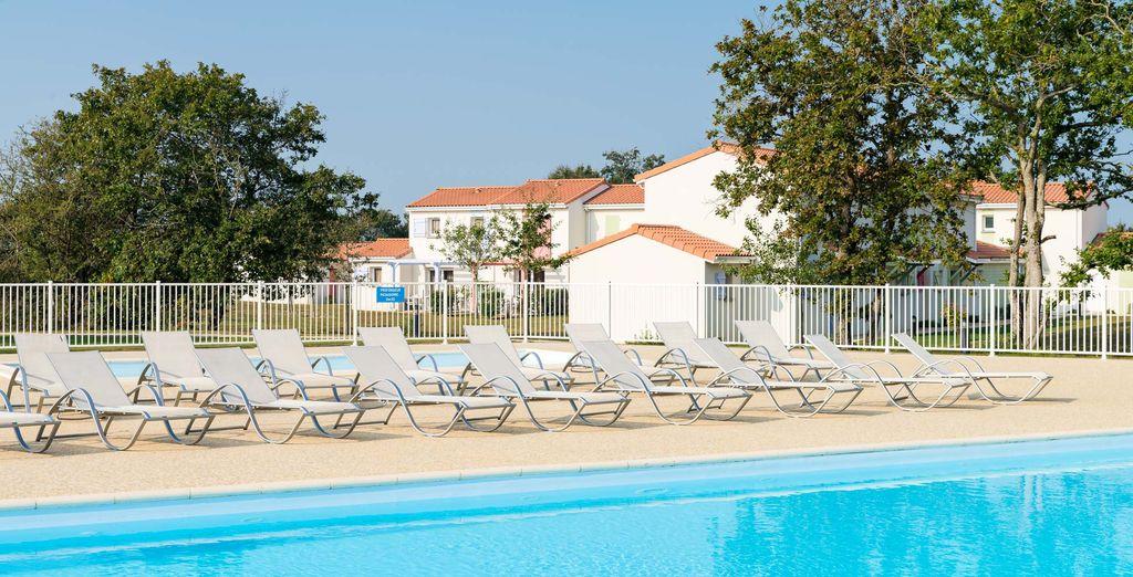 Venez prendre un bain de soleil au bord de la piscine
