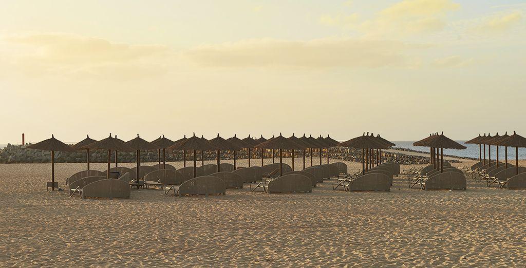 Ainsi que sa belle plage de sable