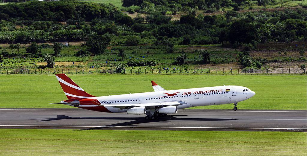 Et choisissez un vol direct en classe économique avec Air Mauritius