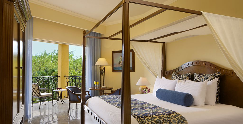 Vous vous reposerez volontiers en chambre Preferred Club Deluxe Tropical View