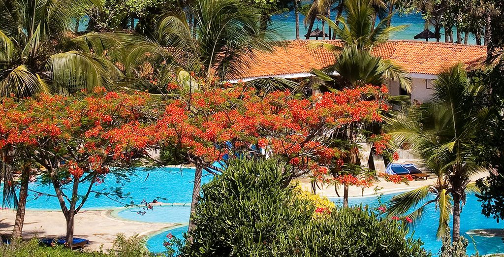 où le Diani Sea Resort vous accueille pour un séjour sous le signe de la détente