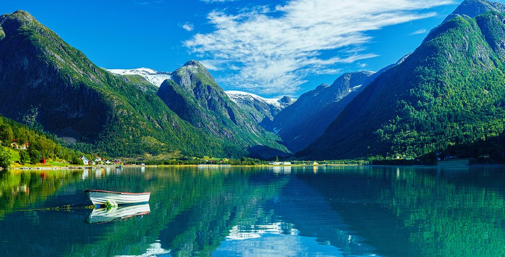 Photographie d'un fjords norvégiens, lors d'une croisière avec Voyage Privé