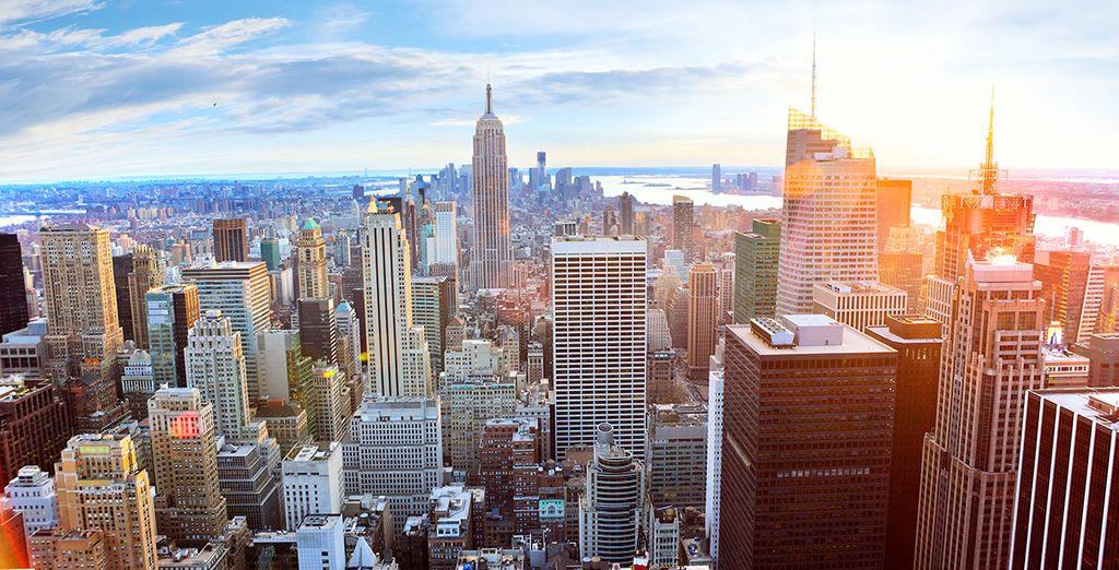 Admirez New York, sous un autre angle depuis la terrasse du Rockfeller Center