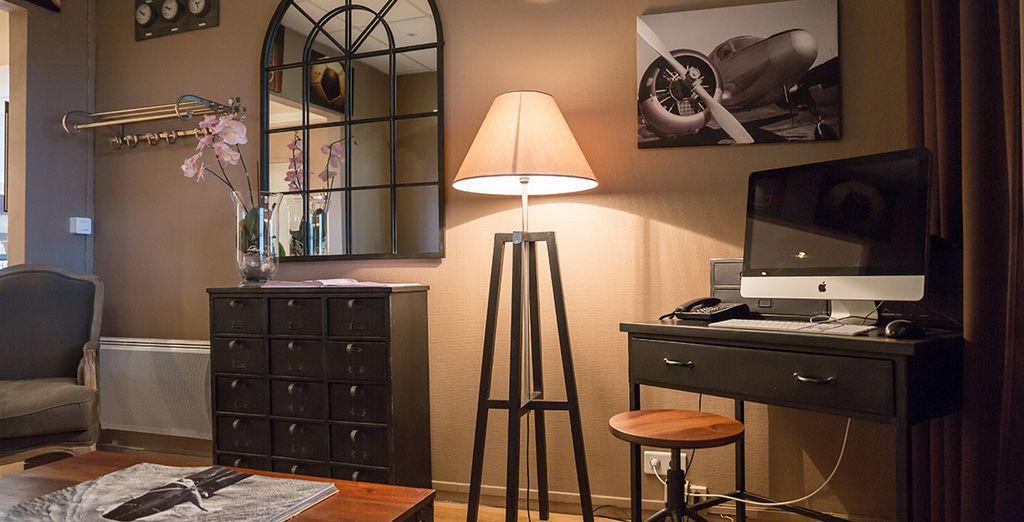 Le mobilier et les tons sobres de chaque pièce donnent aux lieux une grande chaleur
