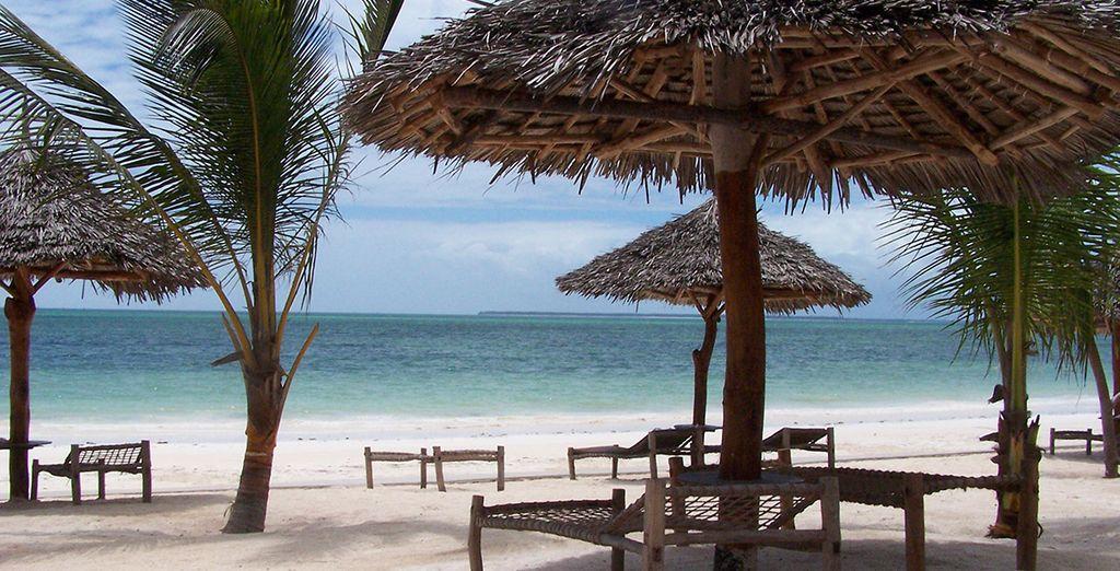 ... avant de vous prélasser sur la plage privative de l'hôtel