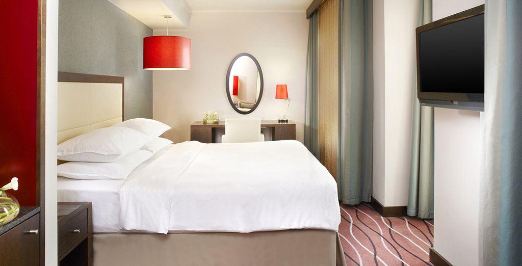 Découvrez le confort de votre chambre Grand Deluxe...