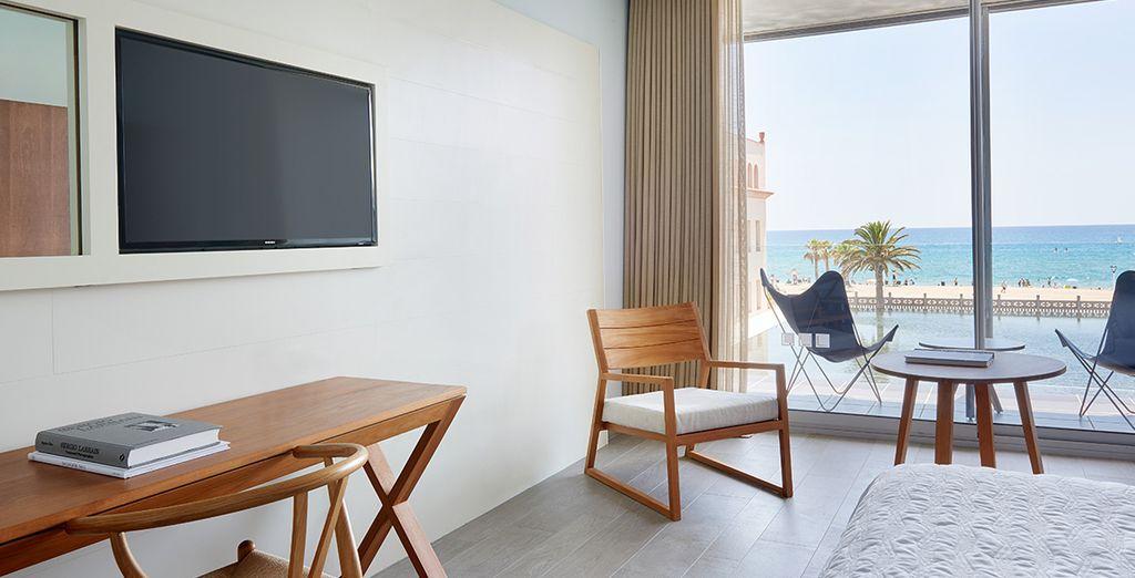 Ou choisissez la chambre avec vue frontale, en option avec supplément.