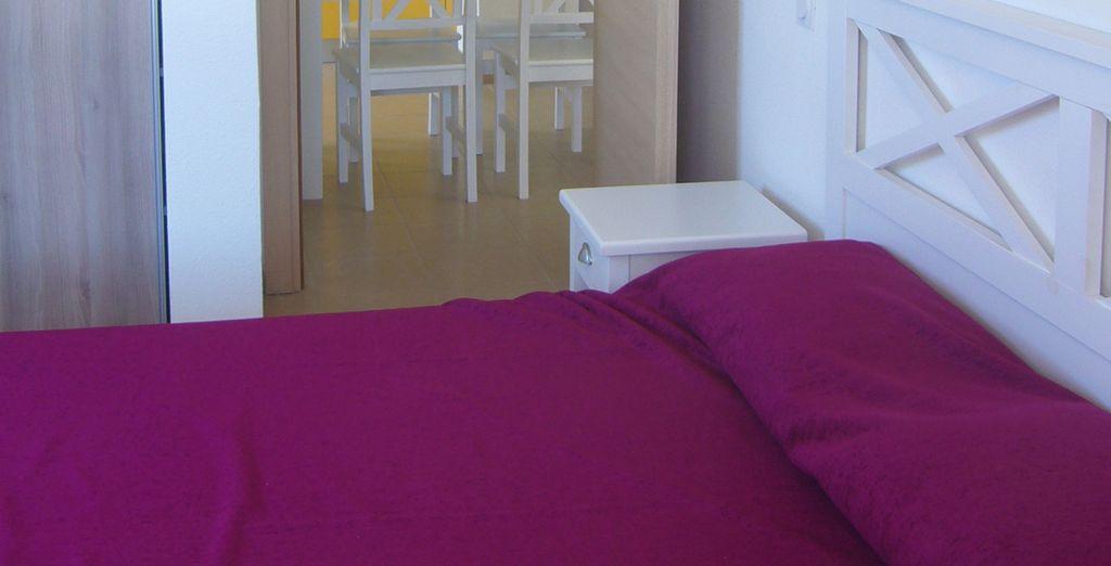 Vous apprécierez le confort de votre chambre