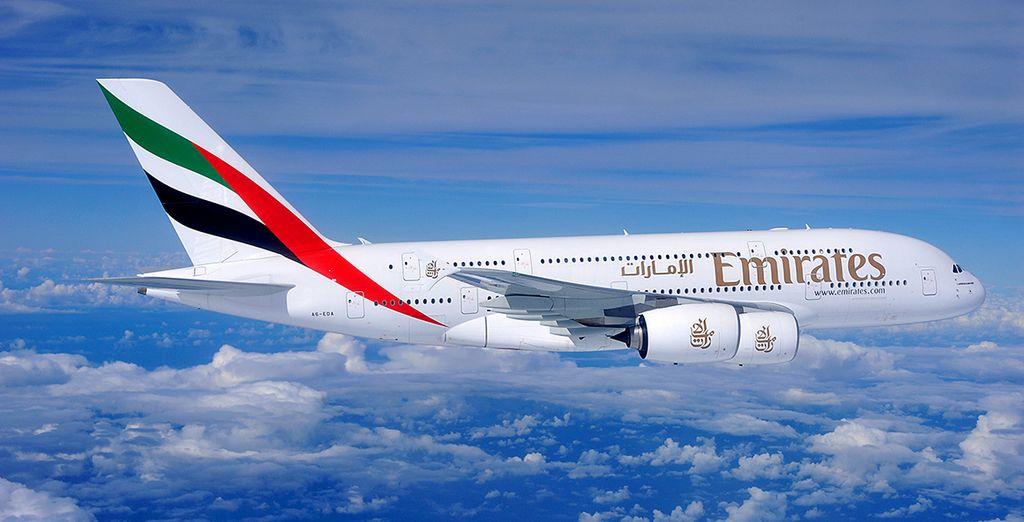 En option avec supplément, craquez pour la classe Affaires Emirates