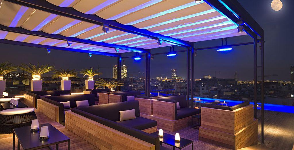 Ou profitez de la vue fantastique sur le toit