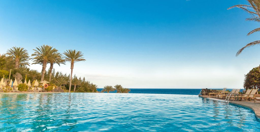 Et rejoignez un cadre paisible et verdoyant - Hôtel Rio Calma 4* Costa Calma
