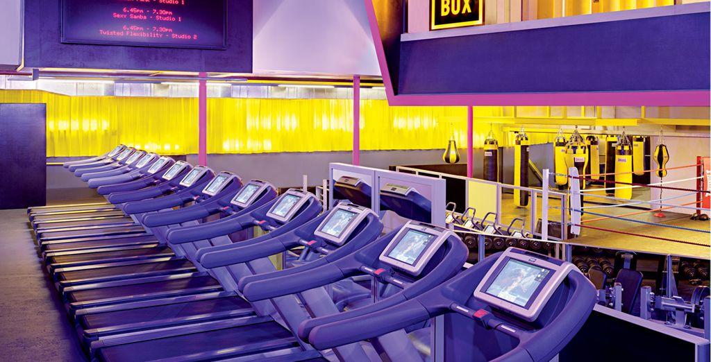 Profitez de l'accès à l'incroyable salle de fitness GymBox