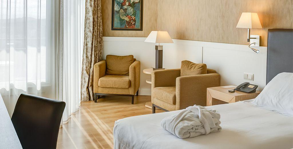 Posez vos valises dans une chambre Confort ou Supérieure lumineuse