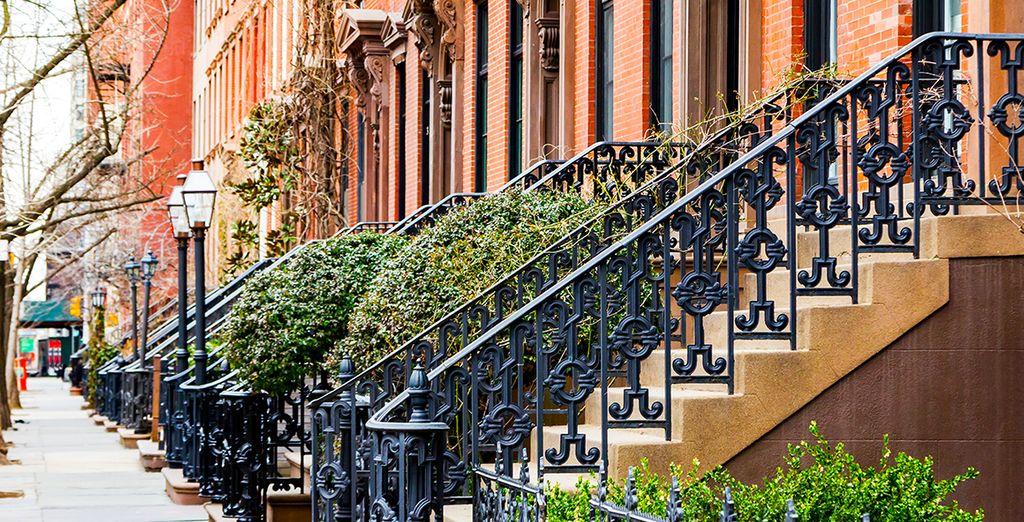 Dans le coeur dynamique du quartier de Manhattan