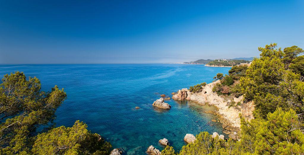 Face à la mer Méditerranée...