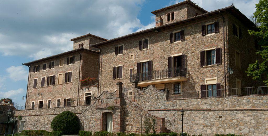 A Barberino Val d'Elsa, un village situé entre Florence et Sienne
