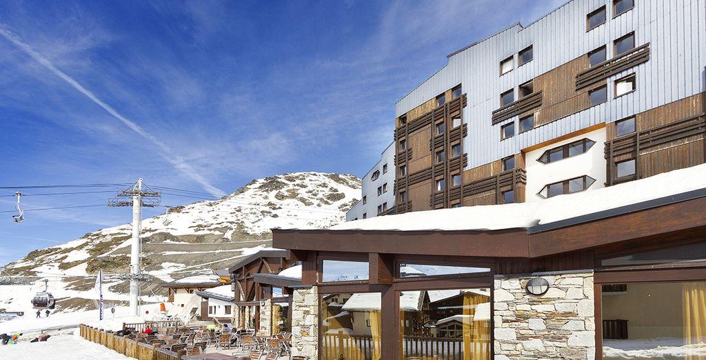 Suivez-nous à l'hôtel-club MMV Les Arolles à Val Thorens !