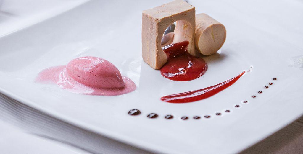 Mais pourrez également profiter de la gastronomie locale sublimée par le Chef Hervé Cune