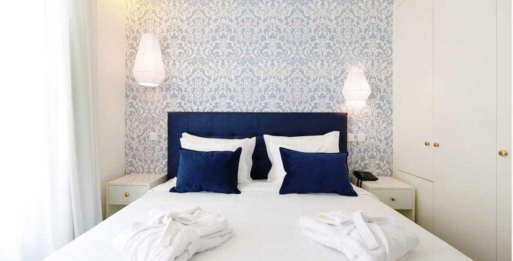 Poussez les portes de votre chambre, élégante et lumineuse...