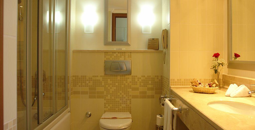 Prolongée d'une salle de bains fonctionnelle