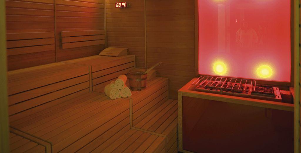 Vous adorerez vous lover dans la chaleur du sauna...