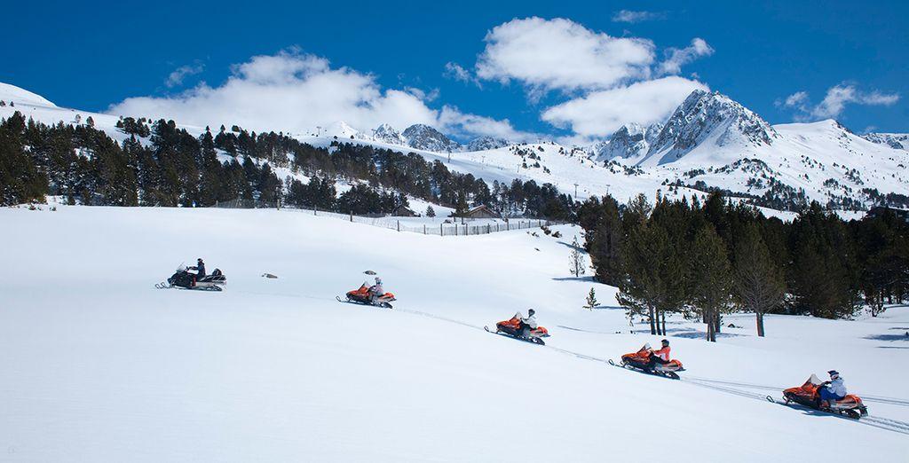 À coté de l'une des pistes de ski les plus célèbres de Vallnord