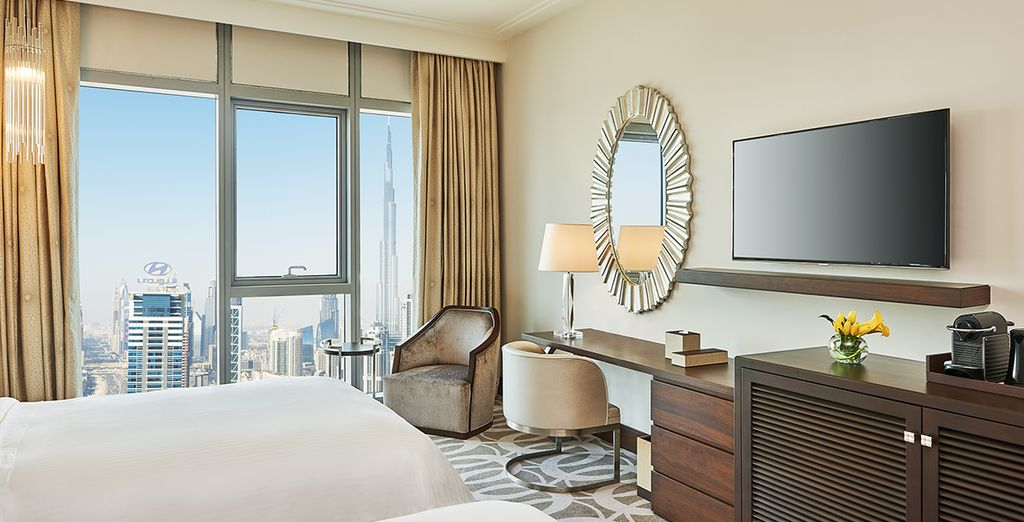 Idéalement situé dans l'antre de la ville, face au Burj Khalifa...