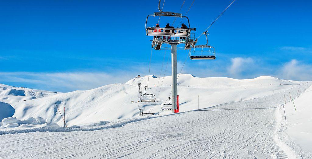 Rejoignez le domaine des Sybelles skis aux pieds...