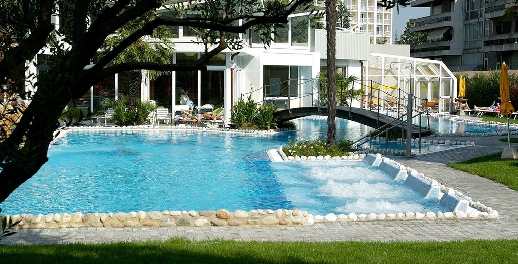 Les piscines extérieures sont chauffées toute l'année
