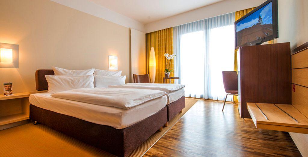 Logé en chambre supérieure, vous séjournerez dans un environnement agréable et confortable