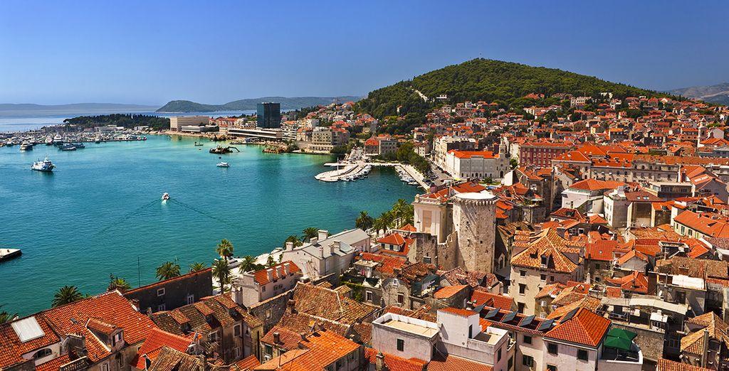 Bienvenue à Split, au bord de la mer Adriatique