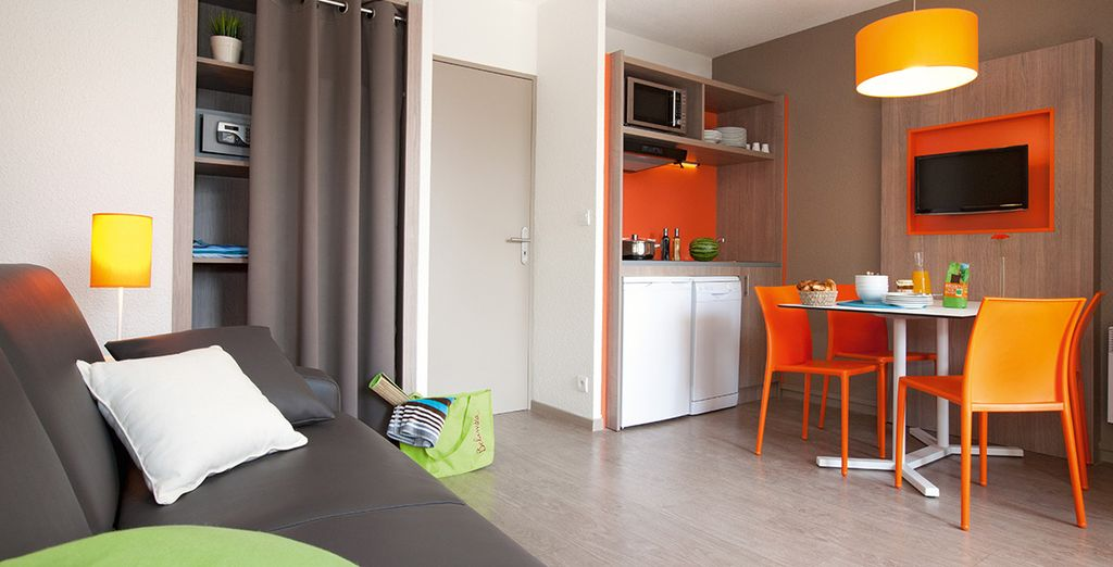 Installez-vous dans un appartement moderne et confortable