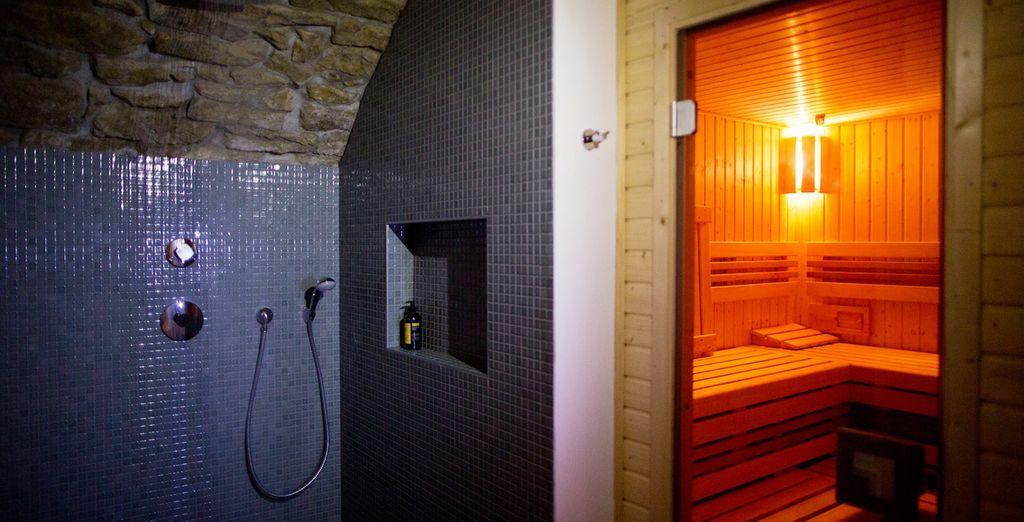 Offrez-vous un moment de détente au sauna