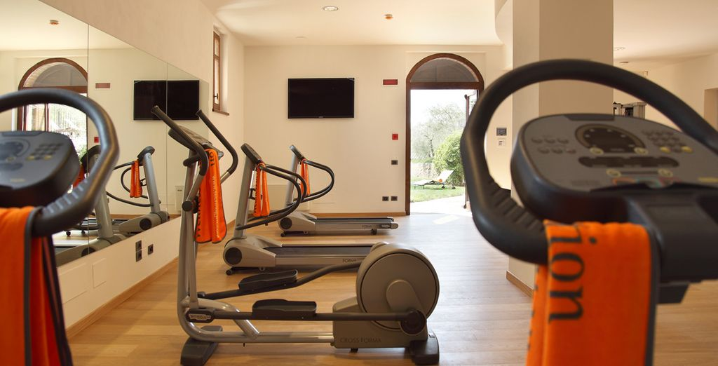 Vous pourrez même profiter de l'espace fitness