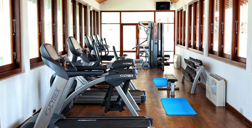Vous pourrez prendre soin de vous à la salle de fitness