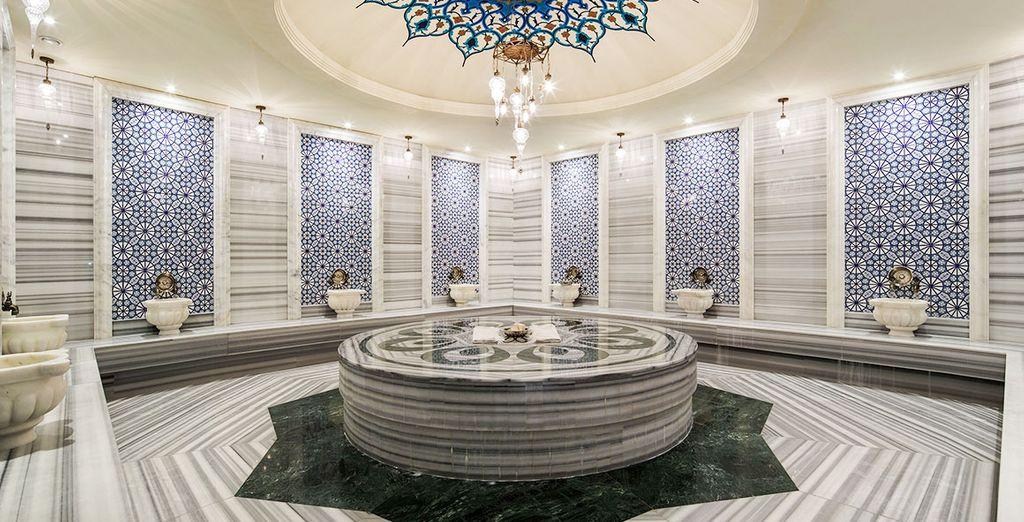 À vous de magnifiques bains turcs...
