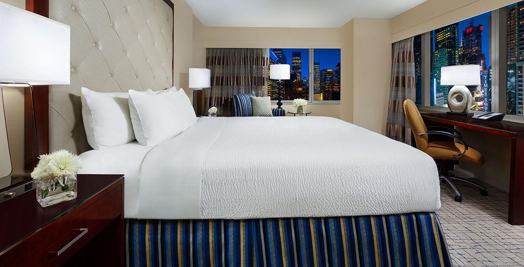 Tout en profitant du confort moelleux de votre chambre