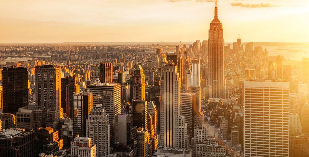 Photographie de la ville de New York et son quartier Manhattan