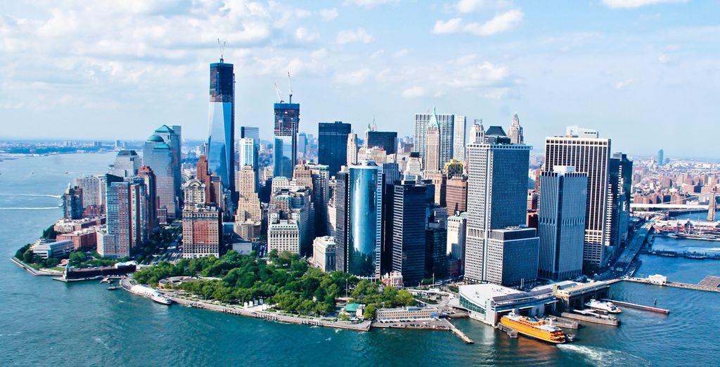 Photographie de la ville de New York ainsi que de ses grattes-ciels