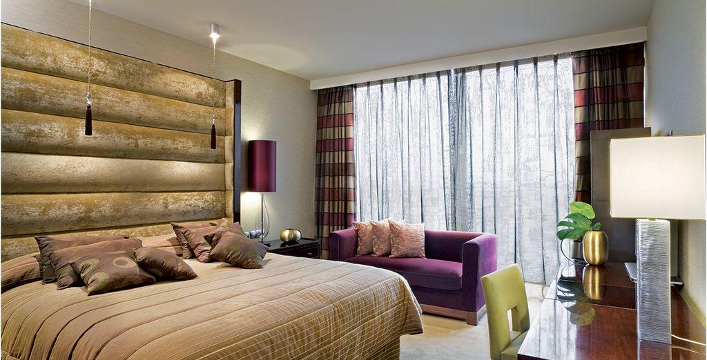 Hôtel de luxe 5 étoiles avec chambre double tout confort