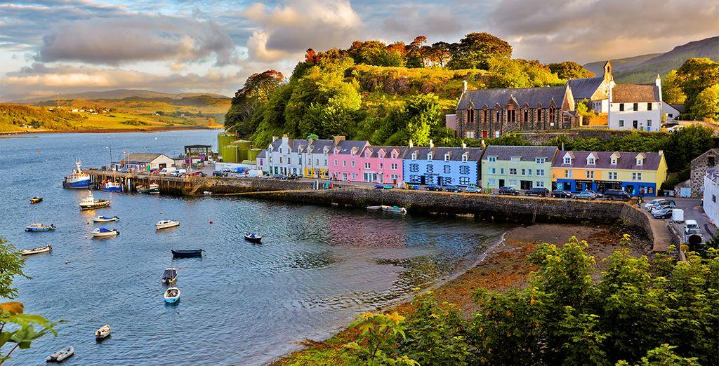 Visitez Portree, avec son charmant port et ses jolies maisons colorées