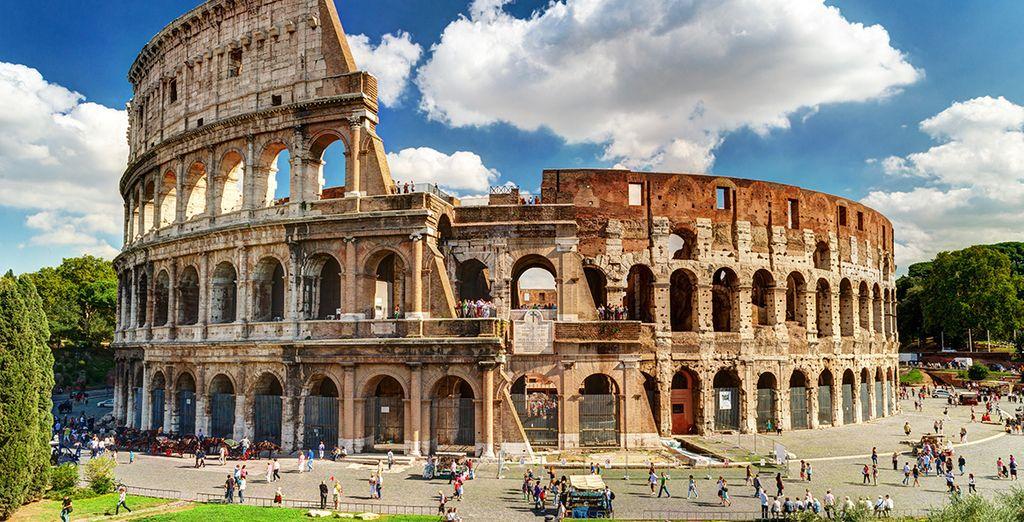 Photographie du Colisée à Rome, au cœur de l'Italie