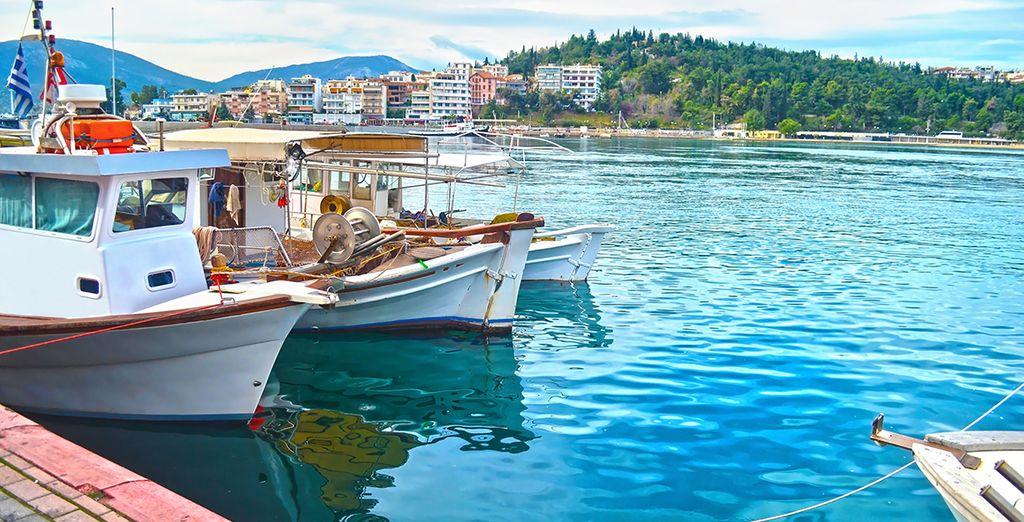 Paysages de la Grèce à l'île d'Eubée