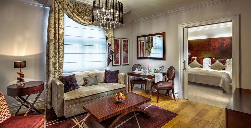 Hôtel de luxe au centre ville de Prague, tout confort et à proximité de toutes activités